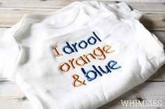 Chicago+Bears+Baby+Bodysuit+I+drool+orange+and+by+WhimsiesApparel,+$18.00