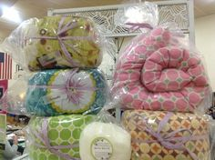 Buckwheat neck wraps & bath salts.  Salts come in lavender, lily of the valley, and many others..... www.etsy.com/shop/essiesgarden