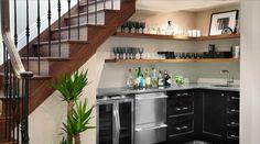 aménagement sous escalier : cuisine petit espace