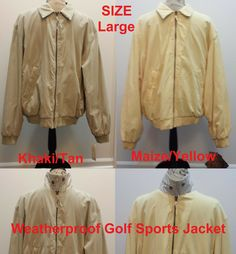 dc7440d02cf Weatherproof Mens Golf Bomber Jacket LARGE Microfiber Coat NEW Vintage  Style  fashion  clothing  shoes  accessories  mensclothing  coatsjackets  (ebay link)