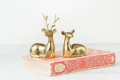Your place to buy and sell all things handmade Candlestick Holders, Candlesticks, Deer Ears, Animal Statues, Color Calibration, Solid Brass, Vintage Shops, Decorative Boxes, Mid Century