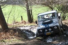 Land Rover off road doing what it knows to do!