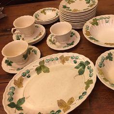 Vintage Vernon Ware by Metlox Vineyard pattern dinnerware! Several lots available! & Permaware 40 pc Set // Mist Pattern // Vintage dinnerware ...