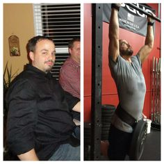 """His transformation is incredible! I vividly remember his first month at CFSG. Every single morning after the WOD I would look over at him sprawled on floor and think """"yep, he's not coming back tomorrow"""". Then I would come in the next day and see him waiting to do it all again. From his very first day he has given 100% of himself in every workout.  He has not only lost a lot of weight but he has gained an immense amount of strength. Congratulations Mike you look phenomenal."""