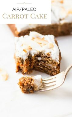 AIP/Paleo Carrot Cake with Whipped Coconut Frosting: terrific dessert with a soft crumb. Paleo Sweets, Paleo Dessert, Dessert Recipes, Fudge, Paleo Carrot Cake, Real Food Recipes, Cooking Recipes, Coconut Frosting, Coconut Milk