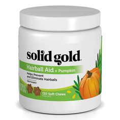 Solid Gold Hairball Aid Chews for Cats; High-Fiber, Natural, Holistic Grain-Free Supplement with Pumpkin; 120 chews -- To view further for this item, visit the image link. (This is an affiliate link and I receive a commission for the sales) #Cats