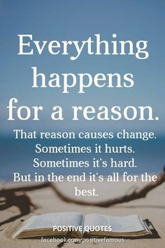 Positive Self Talk, Positive Quotes, Everything Happens For A Reason, Daily Inspiration Quotes, Quotes About Moving On, Life Purpose, Inspirational Thoughts, Morning Quotes, It Hurts