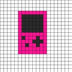 Risultati immagini per pixel art template Perler Bead Designs, Easy Perler Bead Patterns, Melty Bead Patterns, Perler Bead Templates, Diy Perler Beads, Kandi Patterns, Perler Bead Art, Beading Patterns, Cross Stitch Patterns
