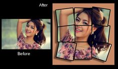 To generate the image collage effect, you need to start by crop the picture into a square, and then you need divide it into slighter squares Image Collage, Photo Retouching, Polaroid Film, Photoshop, Pictures, Photos, Grimm