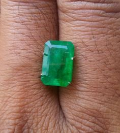 Natural Certified 3.72 Ct Emerald Green Zambia Octagon Cut Rectangle Shape Green Color High Profile Quality Best Gem Stone Loose Gemstone by bilalGems8 on Etsy