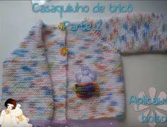 Receita de Tricô: Casaquinho de tricô para bebê tamanho Recém Nascid...