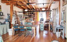 ART STUDIO {KELLY RAE ROBERTS} via www.craftstorageideas.com
