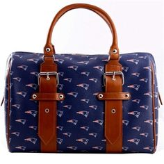 New England Patriots Ladies Annabella Italian Made Handbag - Navy Blue