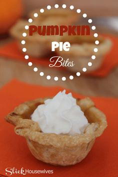 This Pumpkin Pie Bites recipe is perfect for any occasion. I like to make this around Halloween or Thanksgiving. DELICIOUs and EASY