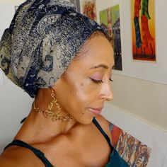 Headwrap and Art (redecorating my place) :D
