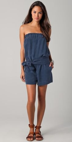 This Patagonia girl is taking a risk with this Young Fabulous and Broke romper.