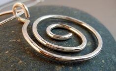 Solid Sterling Silver Spiral Pendant on by keywestdesigning, $30.00