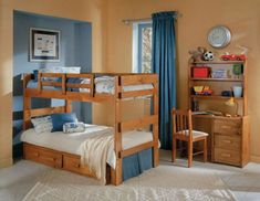 30 Inspiration Picture of Pallet Furniture Bedroom Kids . Pallet Furniture Bedroom Kids 34 Beautiful Bunk Beds Made From Pallets Homeremodel Bed Design, Beds For Small Rooms, Bed Furniture, Loft Bed, Twin Bunk Beds, Bedroom Furniture, Pallet Furniture Bedroom, Bed With Underbed, Kids Bedroom Sets