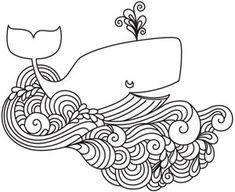 All's Whale | Urban Threads: Unique and Awesome Embroidery Designs
