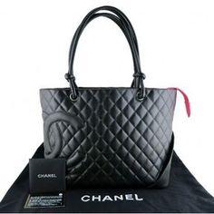 ShopStyle.com: excellent (EX) Chanel Cambon Jumbo Black Lambskin Shopping Tote Bag $1,860.00 Cheap Designer Purses, Chanel Cambon, Baggage, Gucci, Louis Vuitton, Handbags, Tote Bag, Shopping, Nice