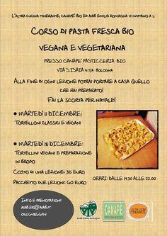 Corsi di tortelloni vegetariani e tortellini vegani