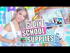 5 DIY School Supplies You'll ACTUALLY Want! Back to School 2017 - YouTube