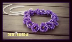 New to dieselboutique on Etsy: Purple Rose crown Flower Headband roses Halo Festival Coachella girl renaissance bridal boho bohemain gypsy bride wedding (23.99 USD)