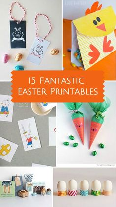 Cute Easter Free Printable ideas for the kids!