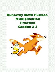 Runaway Math Puzzles Multiplication Math Practice Grades 2-3 If you're looking for an alternative way to review basic multiplication facts this makes an nice change. The student is asked to solve the runaway math puzzle by putting in the numbers that are missing.  There are a number of multiplication equations positioned in a crossword fashion.  There are several levels of thinking required to complete each puzzle.   An Answer Key is included