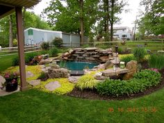 ponds water features, outdoor living, ponds water features, This is our pond that we built right off of our patio I love sitting by it listening to the waterfall back yard wildlife visitors it attracts