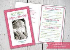 Custom Printable LDS Baptism Program by PocketFullofPixels on Etsy