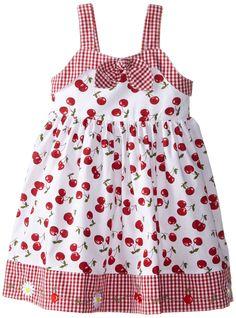 Blueberi Boulevard Girls' Little Gingham Bow Front Dress, Red, Kids Frocks Design, Baby Frocks Designs, Baby Dress Design, Frock Design, Baby Dress Patterns, Girls Christmas Dresses, Frocks For Girls, Baby Kind, Little Girl Dresses