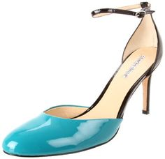 Amazon.com: Charles David Women's Clarissa Ankle-Strap Pump: Shoes  Turquoise and Black 3.5 inch