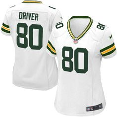 Women's White Nike Game Green Bay Packers #80 Donald Driver NFL Jersey$69.99