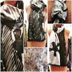 Recycled Art: La collection Flow se prépare à l atelier. #recycledart #cravarte #lifepath #recyledsilk #ties #cravates #textileart #embellishments #madeinoccitanie http://ift.tt/2xSnXOT