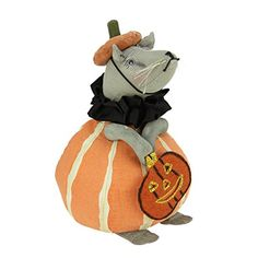 "8"" Gathered Traditions Tilly the Mouse Wearing a Pumpkin Costume Decorative Halloween Figurine. #Halloween #Figures #Sculptures #Figurines #Fantasy #gosstudio #Gift .★ We recommend Gift Shop: http://www.zazzle.com/vintagestylestudio ★"