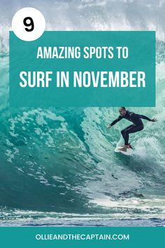 November is a fantastic month for surfing, teasing those of us in the southern hemisphere with whispers of summer and introducing powerful swell to those in the northern hemisphere. If you're looking for the best place to surf in November, then you'll be pleasantly surprised to discover an array of options. #surfguide #travelandsurf #surfing