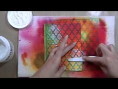 Mixed Media Card tutorial by Sharon Martinelli http://youtu.be/RjXbkZvfEPI