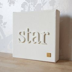 personalised 'little word' canvas by gorgeous graffiti | notonthehighstreet.com