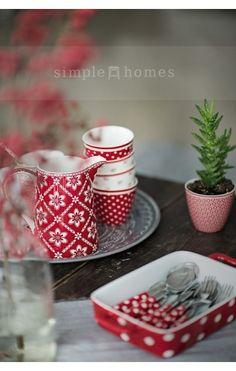 simple homes | GreenGate Luna Red Jug