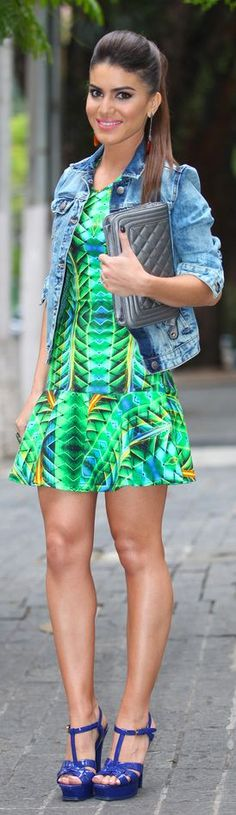 #Look Do Dia: Estampa & #Jeans + Desfile Colcci by Super Vaidosa