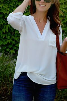jillgg's good life (for less) | a west michigan style blog: my everyday style: the PERFECT white blouse!