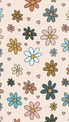 Hippie Wallpaper, Pink Wallpaper Iphone, Flower Aesthetic, Pretty Wallpapers, Cute Pattern, Texture, Cool Stuff, Backgrounds, Flowers
