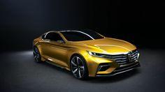 Roewe Vision-R, sedan, yellow