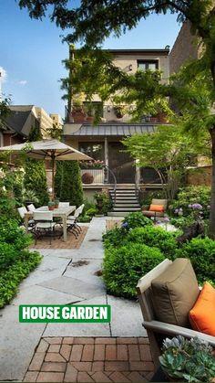 Small Backyard Design, Backyard Patio Designs, Small Backyard Landscaping, Small Patio, Backyard Ideas, Landscaping Ideas, Sloped Backyard, Diy Patio, Small Narrow Garden Ideas