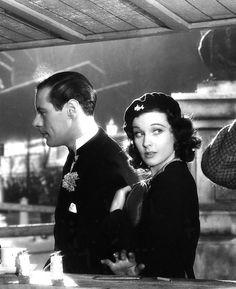 Vivien Leigh and Rex Harrison in Sidewalks of London (1938)