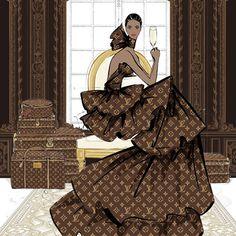 Louis Vuitton Iphone Wallpaper, Wallpaper Iphone Cute, Megan Hess Illustration, Illustration Artists, Illustrations Vintage, Fashion Illustrations, Fashion Illustration Chanel, Illustrations Techniques, Kerrie Hess