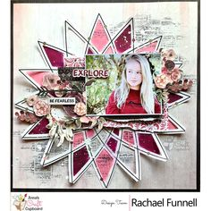Rachael Funnell has been up on our blog this week showcasing her gorgeous creations using the Kaisercraft Gypsy Rose Collection. Rachael's final share for this collection is this absolutely gorgeous layout titled 'Explore'.