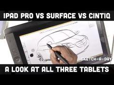 iPad Pro vs. Surface Pro vs. Wacom Cintiq Companion - a designer's comparison - YouTube