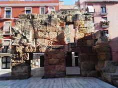 Restos romanos en la ciudad de Tarragona. Roman remains in the city of Tarragona.